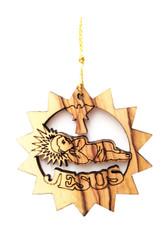 Olive Wood Baby Jesus Ornament (LZO-154)