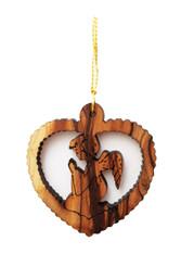 Olive Wood Angel Ornament (LZO-155)