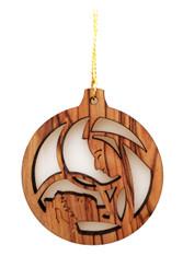 Olive Wood Mary w/Baby Ornament (LZO-162)