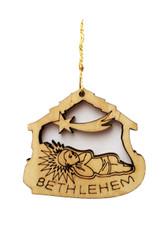 Bethlehem Olive Wood Baby Jesus Ornament (LZO-148)