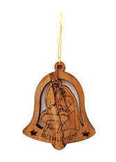 Bethlehem Olive Wood Nativity Ornament (LZO-161)