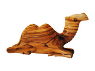 Olive Wood Kneeling Camel Two Humps (4.5 Inches Width x 2.5 Inches Height)