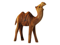 Olive Wood Camel Two Hump Standing .(4.5 Inches Width X 5 3/4 Inches Height)