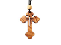 Olive Wood Eastern Cross W/Cord 1.6 inches in Height