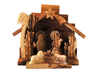 Nativity Set -High Detail Scroll Saw (Gift Boxed) 4.5 Inches Width x 4.5 Inches Height x 3.25 Inches Depth