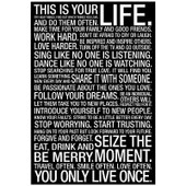 This Is Your Life Motivational Poster 13x19.