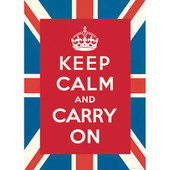 Keep Calm and Carry On Decorative Decoupage Paper Poster