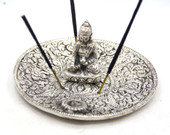 It is approximately 4 Inches wide incense burner - Please insert the incense stick straight into the holes of the burner so that the ash falls properly inside the incense burner.