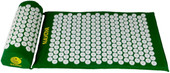 Acupressure mat and pillow set for lower, upper, mid, chronic back pain treatment.