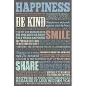 (24x36) Happiness Quotes Motivational Poster