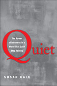 "Quiet: The Power of Introverts in a World That Can't Stop Talking is a 2012 non-fiction book written by Susan Cain. Cain argues that modern Western culture misunderstands and undervalues the traits and capabilities of introverted people, leading to ""a colossal waste of talent, energy, and happiness."""