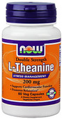 Now Foods, L-Theanine 200 Mg, Veg-Capsules, 60-Count