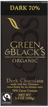 Green & Black's, Organic Chocolate Bar, 70% Cocoa, 3.5 oz