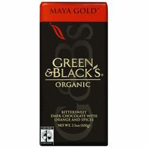 Green & Black's, Organic Dark Chocolate Bar, Orange & Spices, 3.5 oz