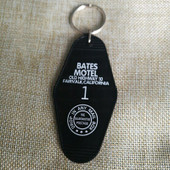 Bates Motel Inspired Key Tag in Black and White Room # 1