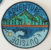 Adventure Outside Travel Patch Iron On Embroidered Patch