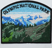 Olympic National Park Iron On Travel Patch