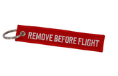 Aviation inspired key tag chain