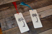 Palm Tree Bookmarks Set Of 2 With Color Tassels