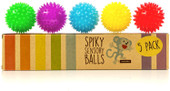 Spiky Sensory Balls 5 Pack Squeezy And Bouncy Fidget Toy