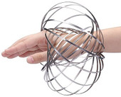 Flow Ring Kinetic Pop Up Spring Toy 3D Sculpture Ring