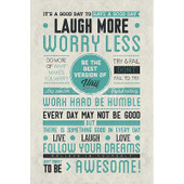 Be Awesome Motivational Poster 24x36.