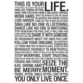 This Is Your Life White Motivational Poster 24x36