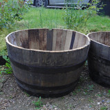 "Giant Half Oak Barrel (36""W x 17-19""H)"