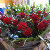 Standard Red Rose Bouquet - 12 roses