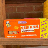 Suet blocks (with mealworms) - box of 10