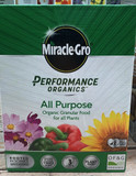 Miracle-Gro  'Performance Organics  All purpose granular food' - 1kg