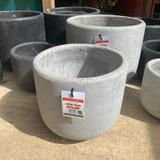 Granite Effect Round Planters - Black 3 Sizes