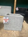 Granite Effect Square Planters - Grey 3 Sizes