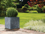 Slate Effect - Light Grey Cube Planters - 4 Sizes