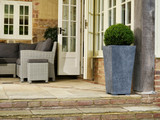 Slate Effect- Light Grey Square Planters - 3 Sizes