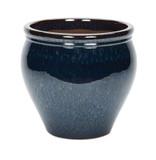 Peacock Blue Glazed Jars - 3 Sizes