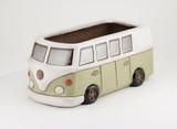 Glazed Camper Van Planter - Green