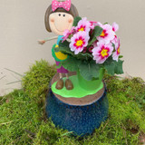 Mums -Flower pot with primrose.