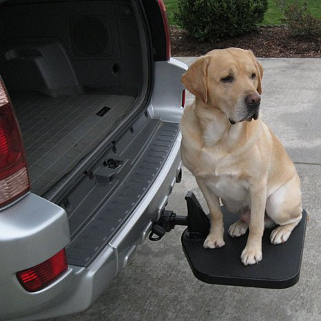 Portable Pet Twistep hitch step for SUVs