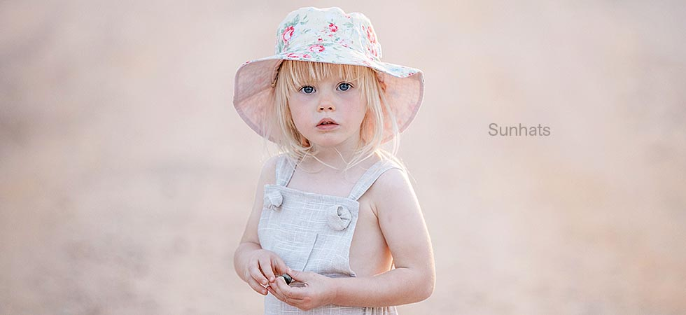 Toshi Sunhat Meadow with wide brim for sun protection