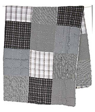 Quilt Patchwork Charcoal