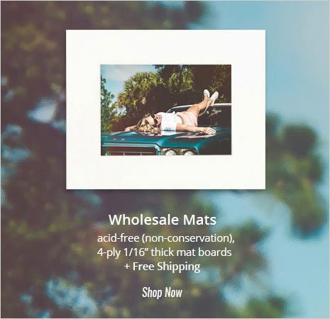 "Wholesale Mats - acid-free (non-conservation), 4-ply 1/16"" thick mat boards + Free Shipping. Shop Now>>>"