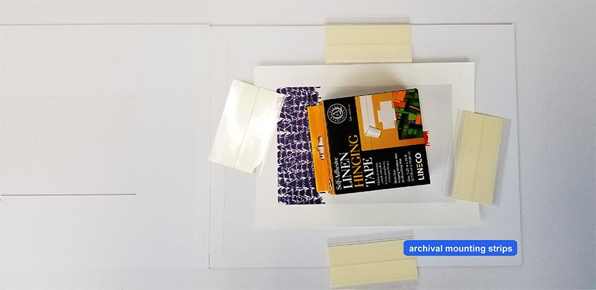 4 archival mount strips - mat board center