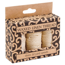 Lineco Waxed Linen Thread 3Pk Natural