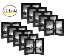 5x7 Hinged Frame for 5x7 Picture Black Wood (10 Pcs per Box)