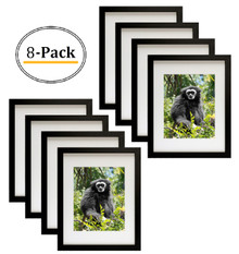 11x14 Frame for 8x10 Picture Black Wood, Solid Smooth (8 Pcs per Box)