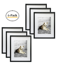 16x20 Frame for 11x14 Picture Black Wood (6 Pcs per Box)