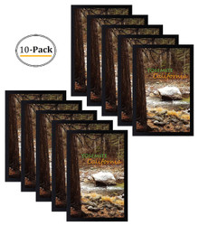11x17 Inch Poster Frame - Black - Landscape/Portrait - Swivel Tabs - Simple and Stylish (10pcs/box)