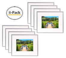 8x10 Frame for 5x7 Picture Silver Aluminum (8 Pcs per Box)