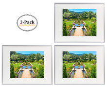 12x16 Frame for 8.5x11 Picture Silver Aluminum (3 Pcs per Box)